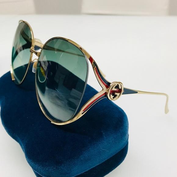 4df75a47d2 GUCCI GG0225S 004 Oversized Sunglasses